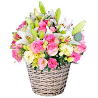 Цветы в корзинке «Впечатление»